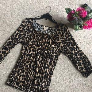 Michael Kors Cheetah Print Top!